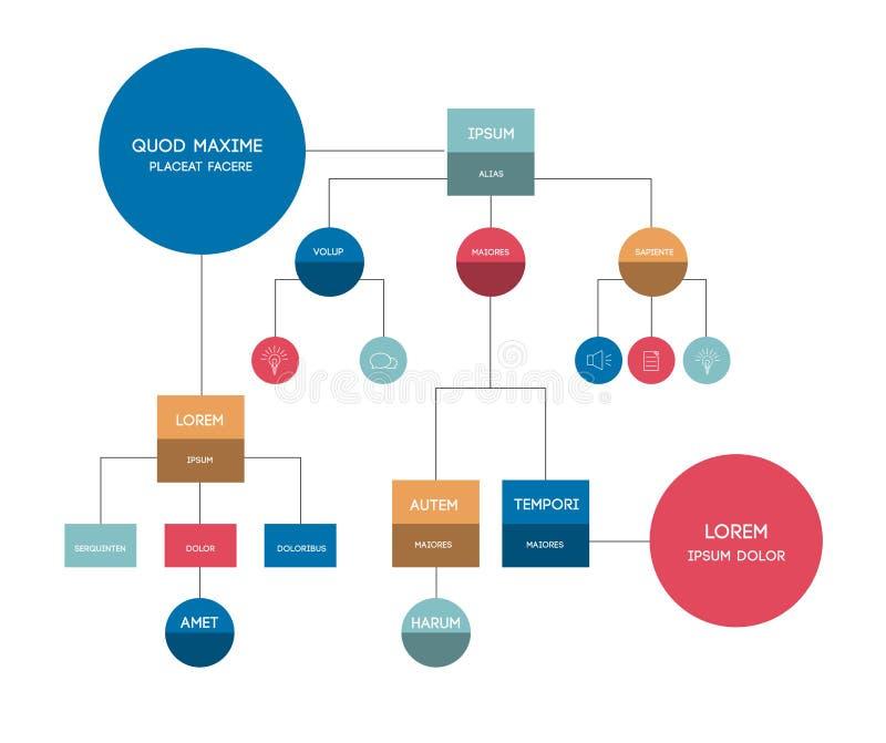 fluxograma Molde, esquema, diagrama, infographic ilustração do vetor