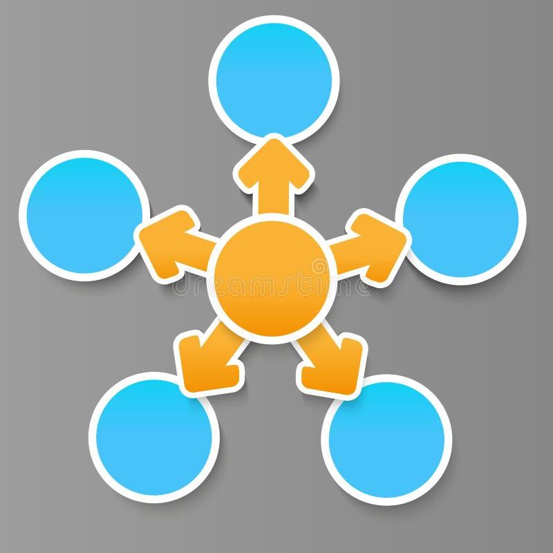 Fluxograma para seu projeto ilustração royalty free