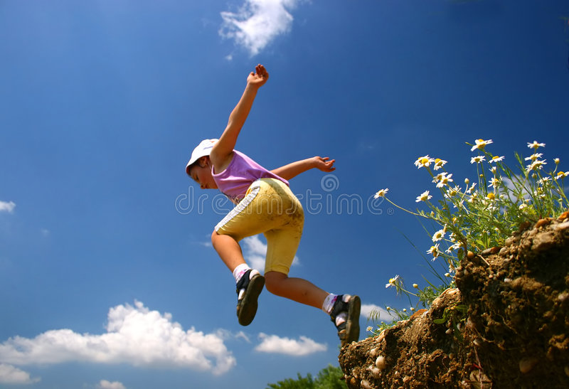 Download Fly stock photo. Image of clouds, nature, sport, girl, blue - 755696