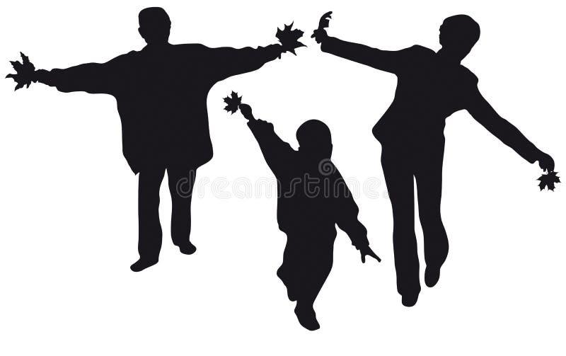 Fly family silhouette stock illustration