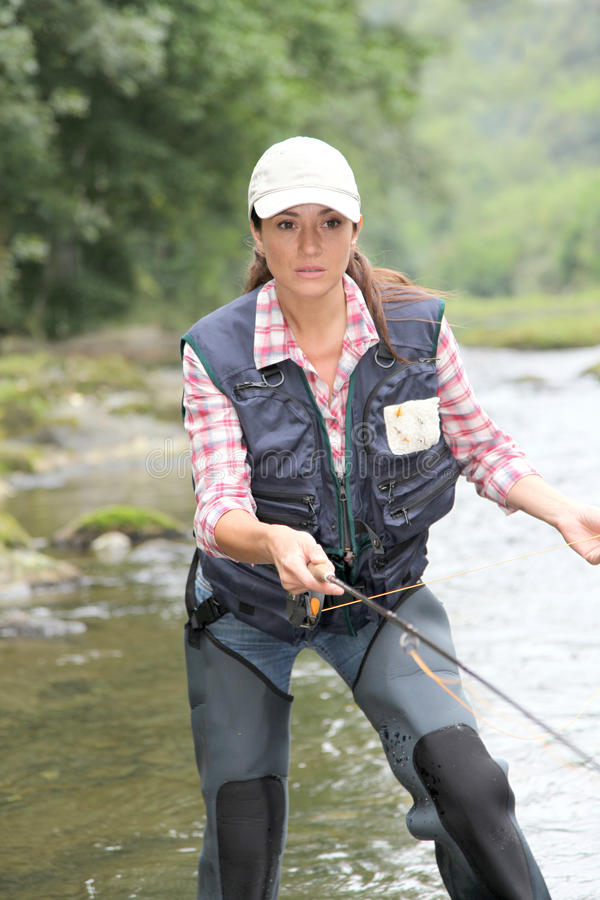 Free Fly Fishing Royalty Free Stock Photography - 16365057