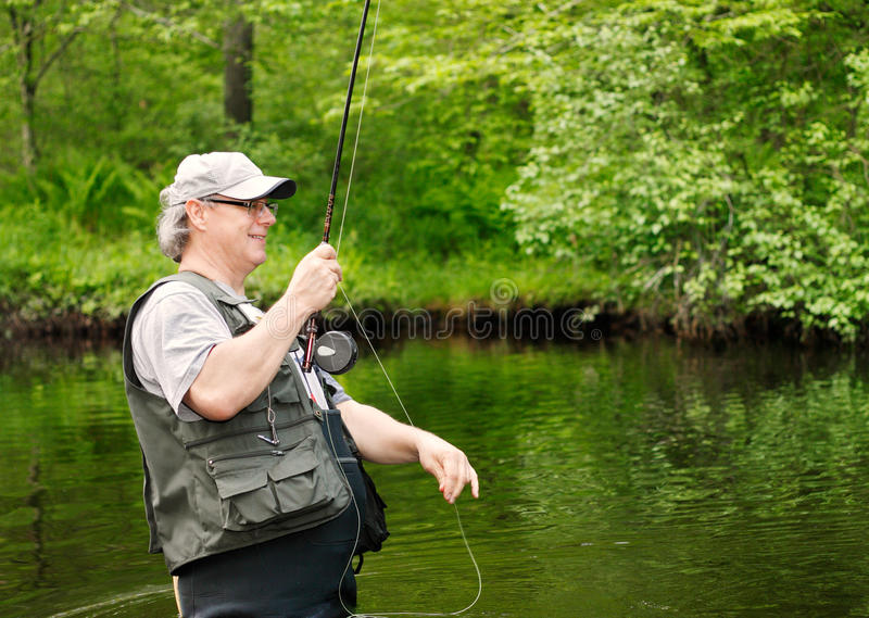 Download Fly Fishing stock image. Image of mature, fish, hand - 20022803