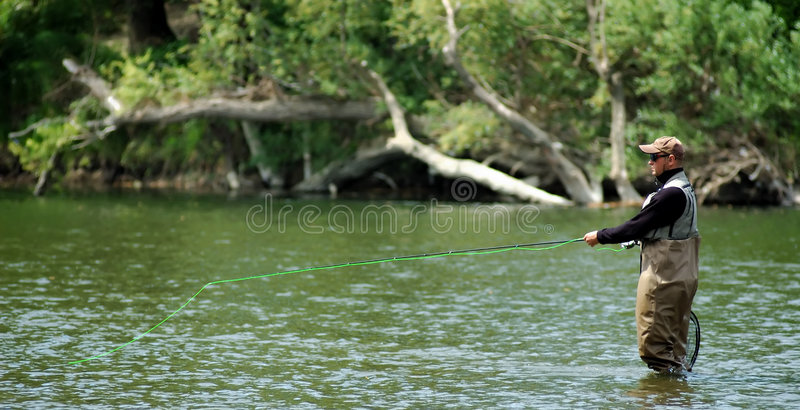 Fly fishing stock images