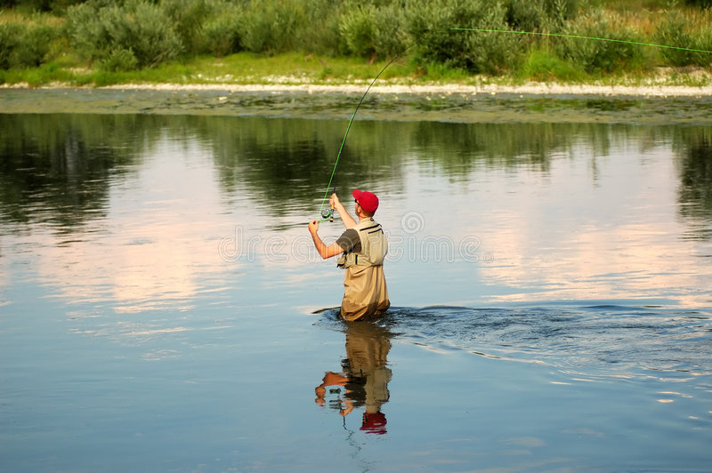 Fly fishing royalty free stock image