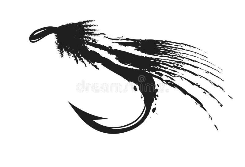 Fly-fishing. Illustration, on white background