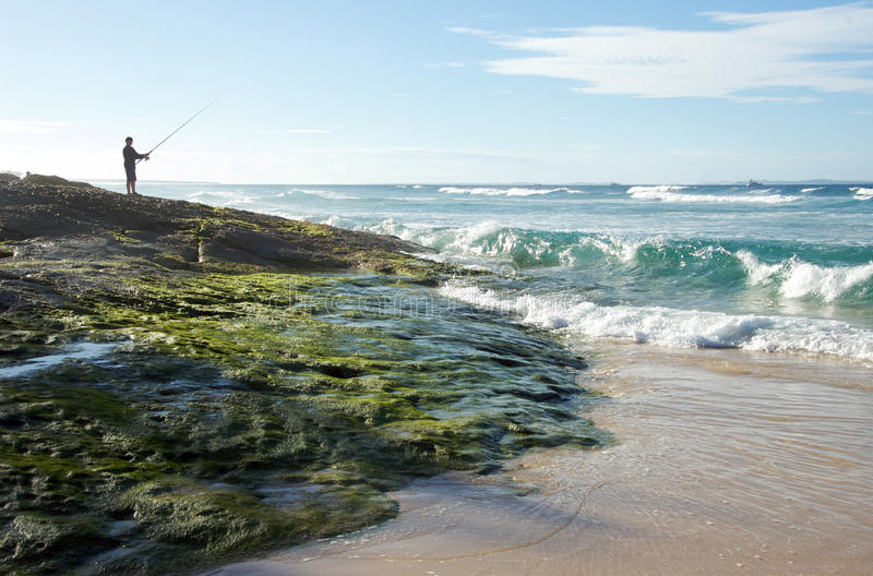 Download Fly Fishing On The Australian Coast Stock Photo - Image: 13054350
