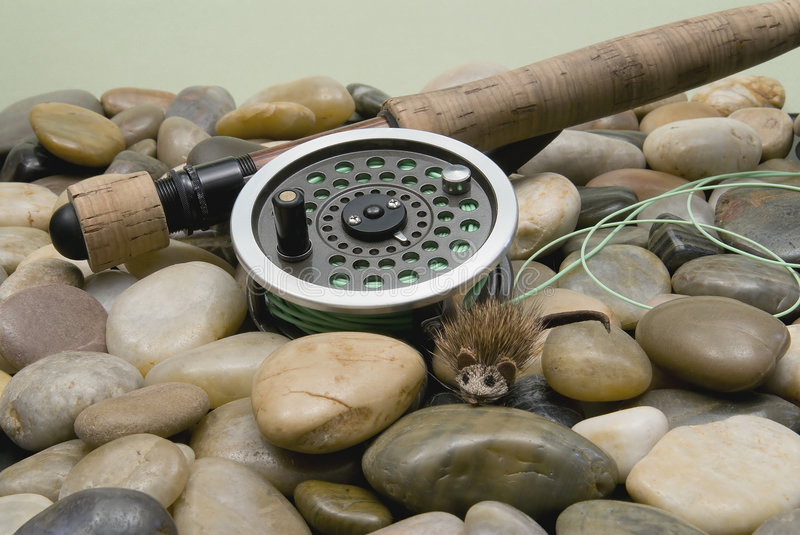 Fly Fishing Tackle royalty free stock photos