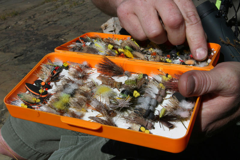 Download Fly Fishing Tackle Box stock image. Image of lures, bait - 26795959