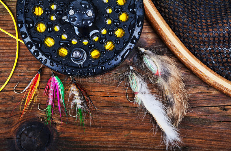 Fly Fishing Tackle Royalty Free Stock Photography