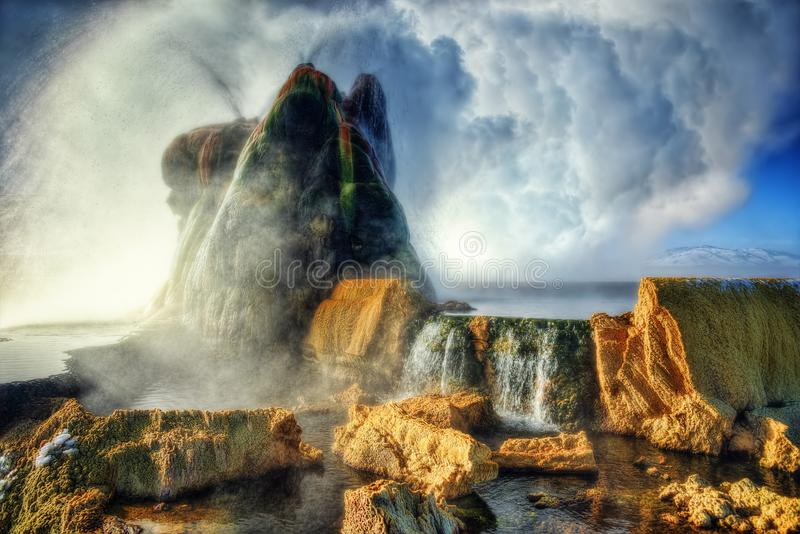 Fly Geyser Arizona. Taken in 2015 royalty free stock photography