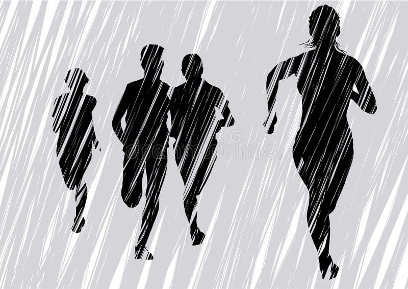 fly gråa kvinnor vektor illustrationer