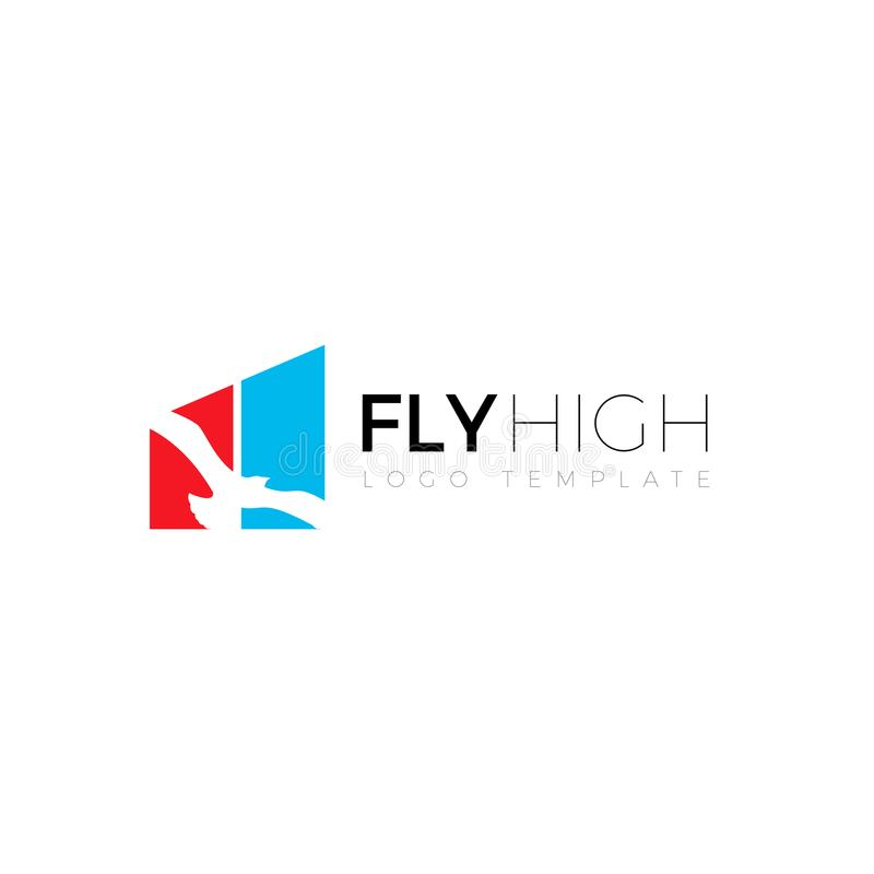 Fly High Financial Investment Symbol Logo Design stock illustration
