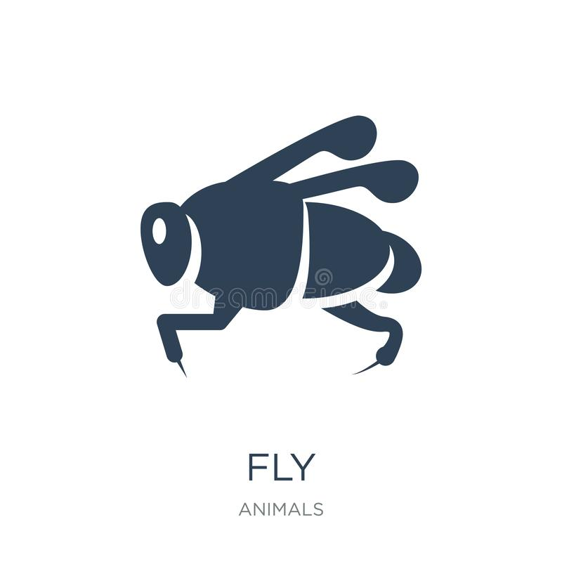 fly icon in trendy design style. fly icon isolated on white background. fly vector icon simple and modern flat symbol for web site royalty free illustration