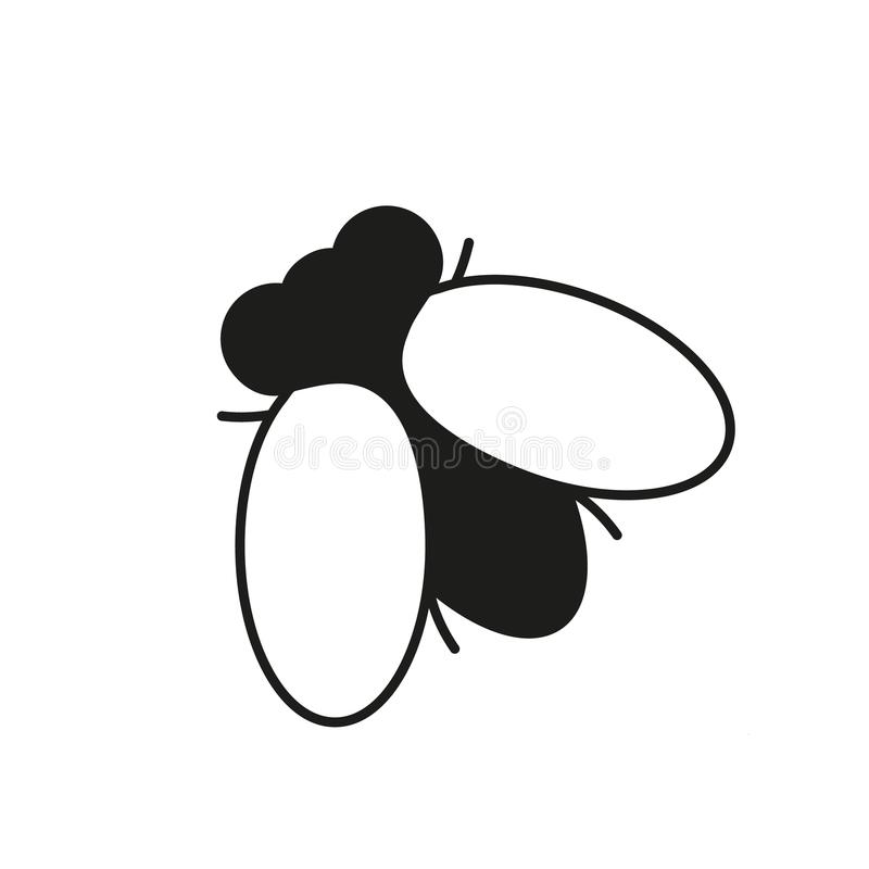 Fly insect icon. On the white background vector illustration