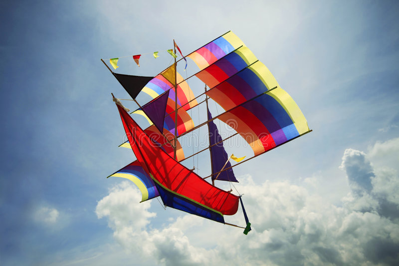 Fly A Kite Stock Photography