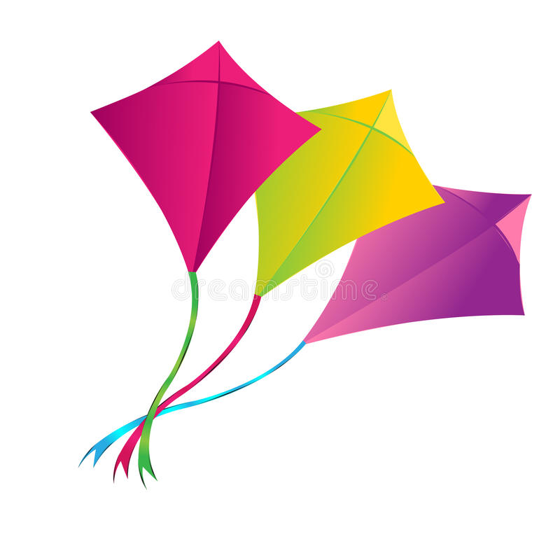 Download We Fly Kites Because We Long To Be Birds Stock Illustration - Illustration: 42234824