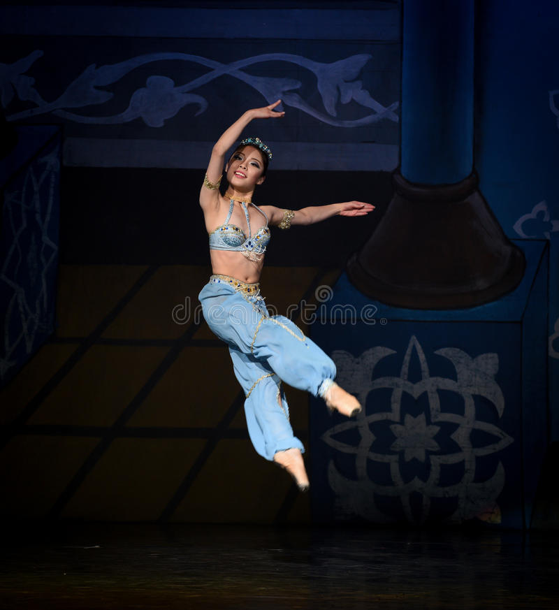 "Fly like a swallow- ballet ""One Thousand and One Nights"" royalty free stock photography"