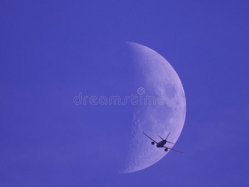 Fly me to the moon stock photography