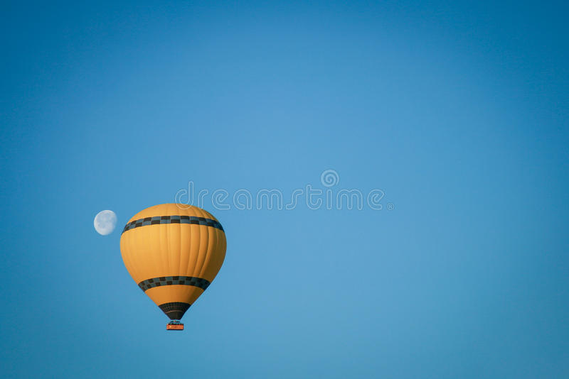 Fly Me to the Moon. Shot on a hot air balloon ride in Cappadocia, Turkey. It was a magical moment at a magical destination - up in the air stock photos