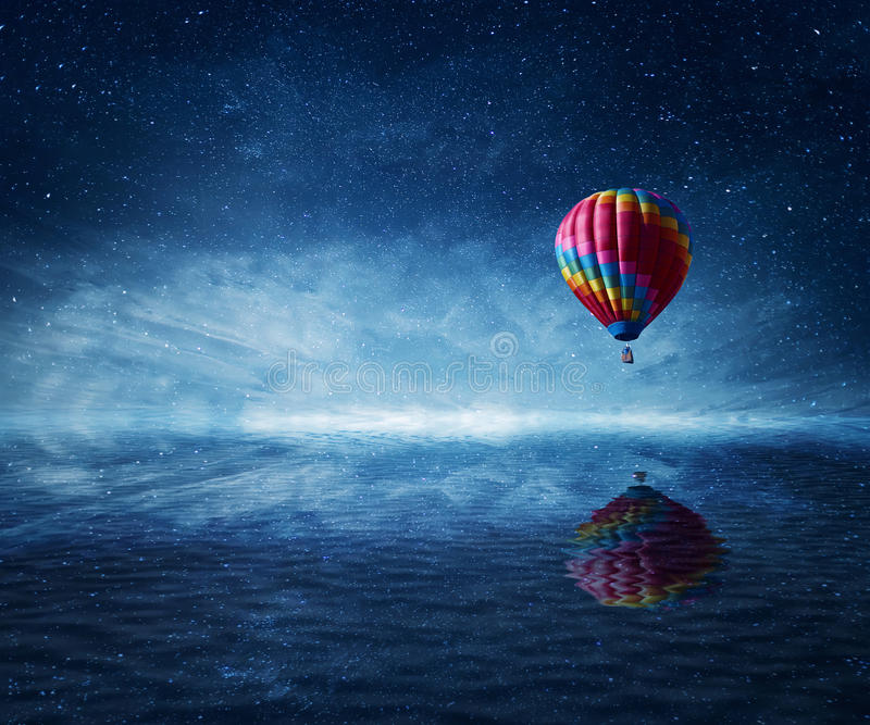 Fly over the sea royalty free stock images