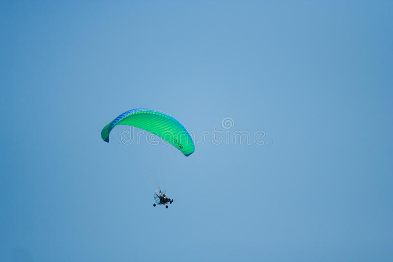 Fly with paragliding stock images