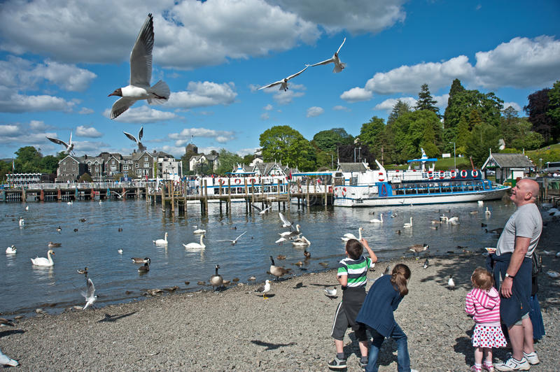 Fly Past Over Lake Windermere Editorial Stock Photo