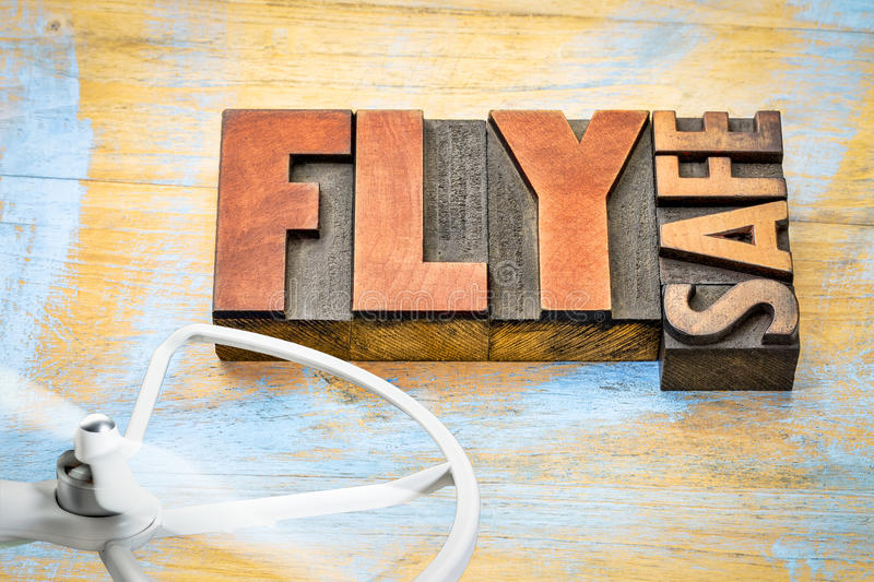 Fly safe - drone operation reminder stock photos