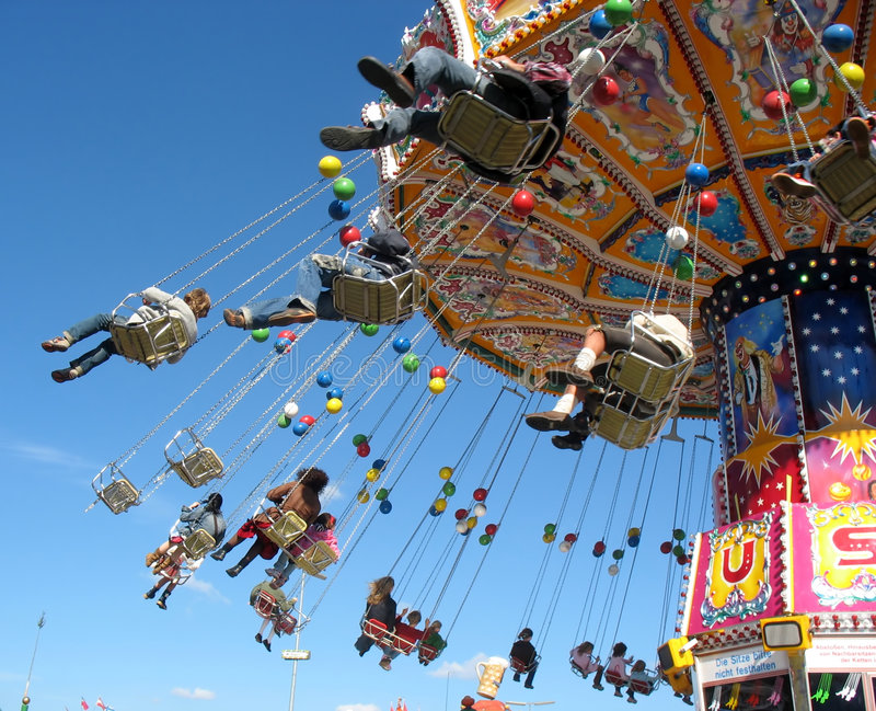 Fly in the sky - small colourful carousel.