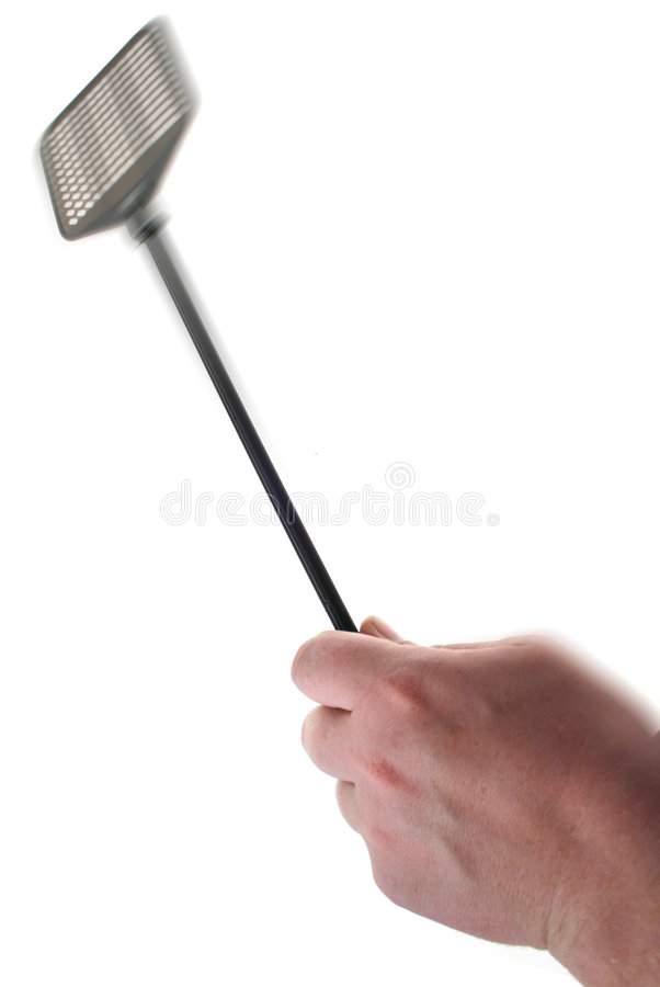 Fly swatter royalty free stock image
