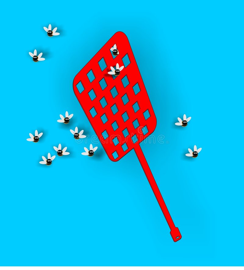Fly swatter royalty free illustration