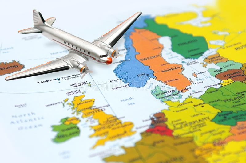 Download Fly to Europe stock image. Image of adventure, aviation - 15825393