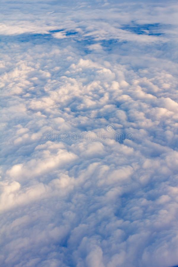 Fly view window plane stock photo