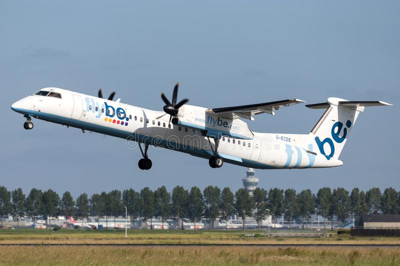 Flybe Bombardier DHC-8-400 Dash 8 royalty free stock photography