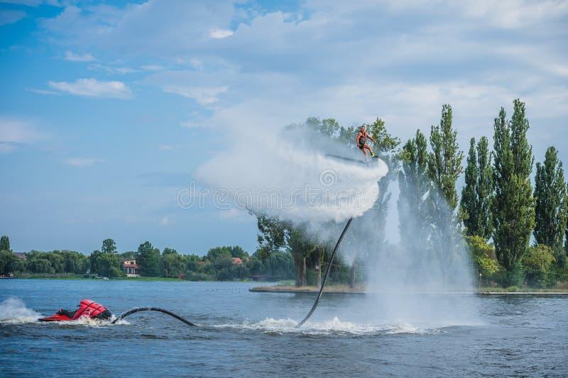 Flyboarding Flyboard 库存照片