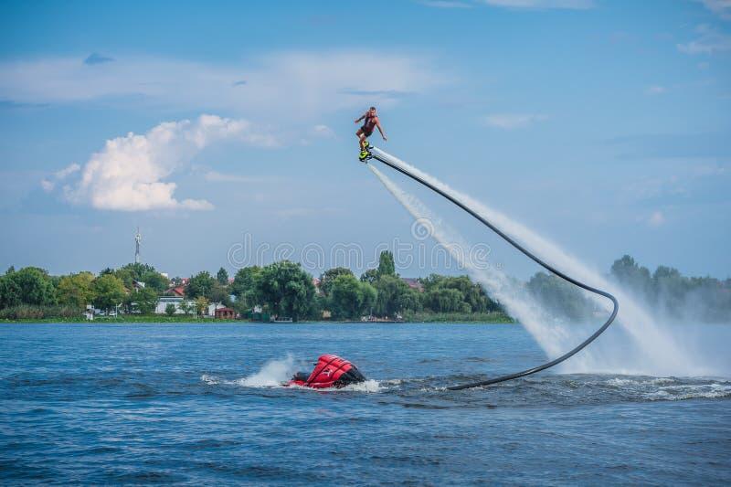 Flyboarding Flyboard arkivbild