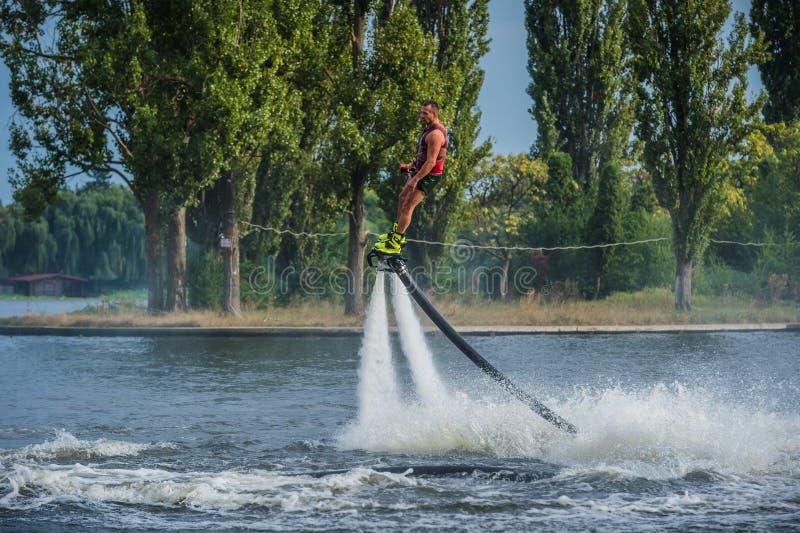 Flyboarding Flyboard стоковое фото rf