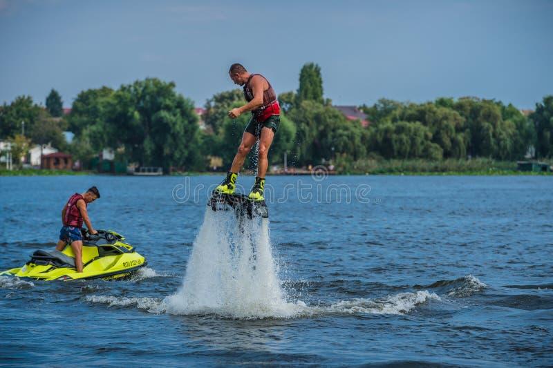 Flyboarding Flyboard 免版税图库摄影