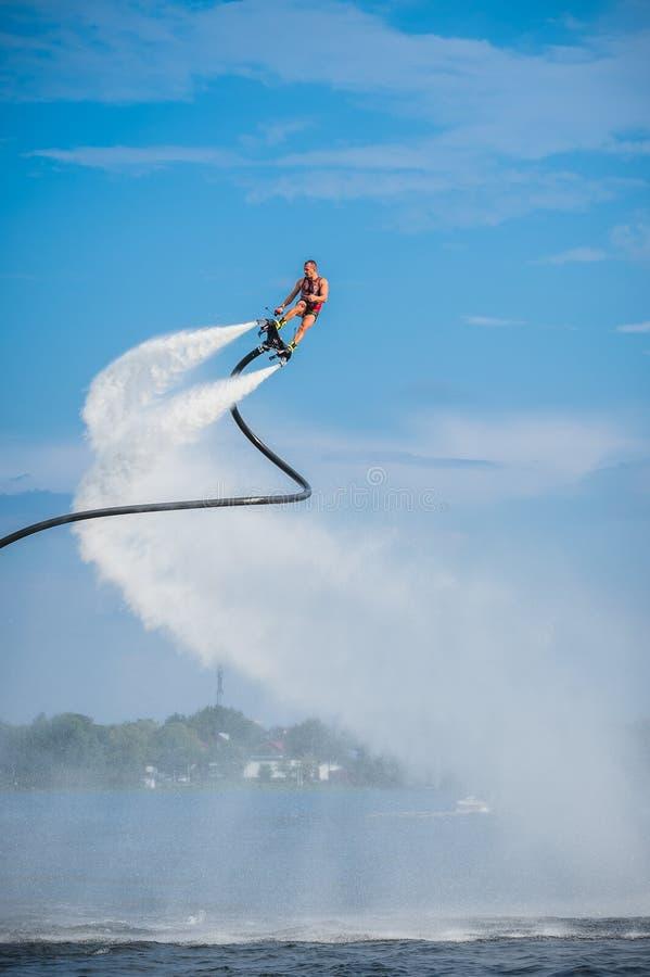 Flyboarding Flyboard 免版税库存照片