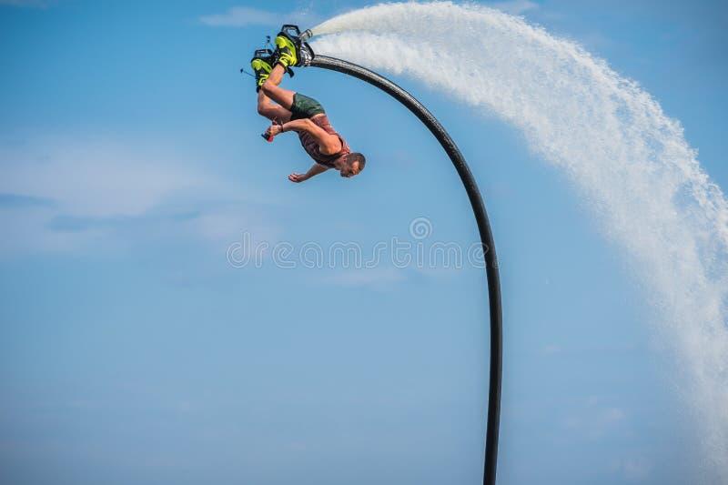 Flyboarding Flyboard 免版税库存图片