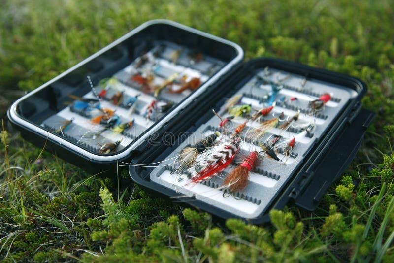 Flybox sul riverbank fotografia stock libera da diritti