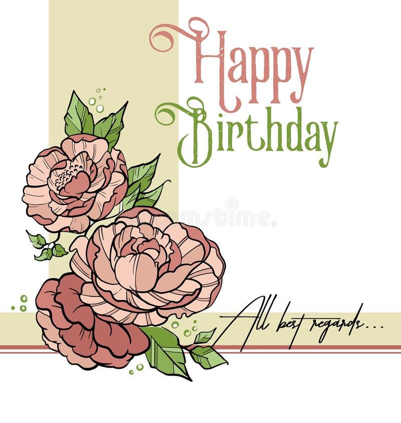 Flycard di compleanno illustrazione di stock