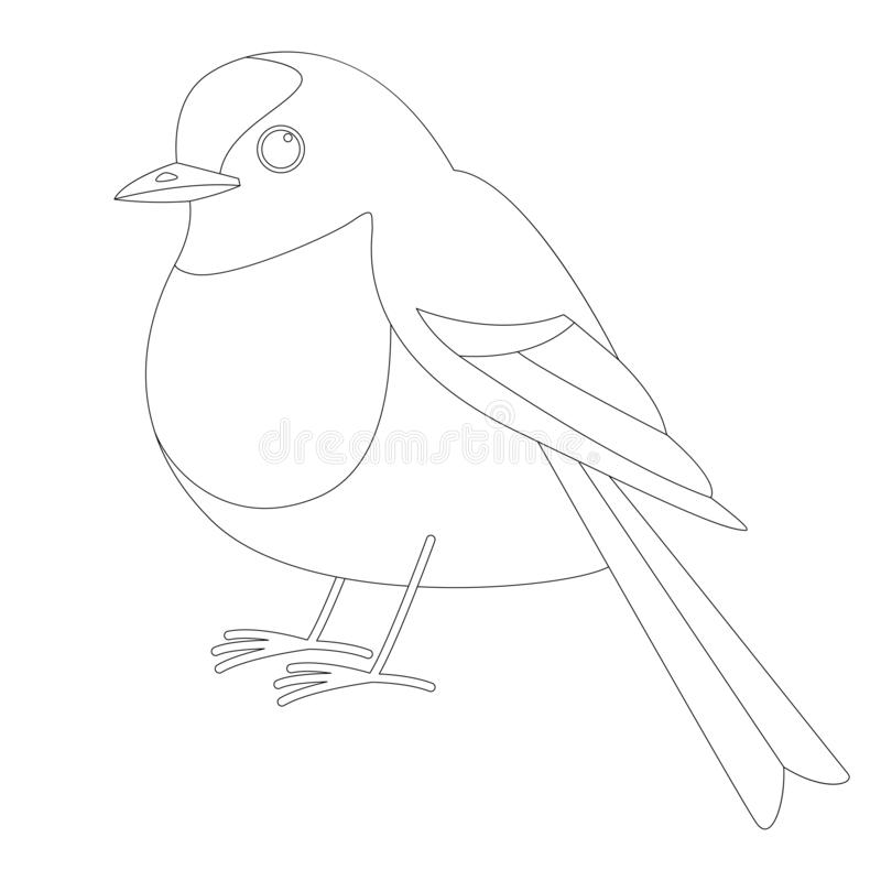 Singing Bird Vector Illustration Flat Style Profile