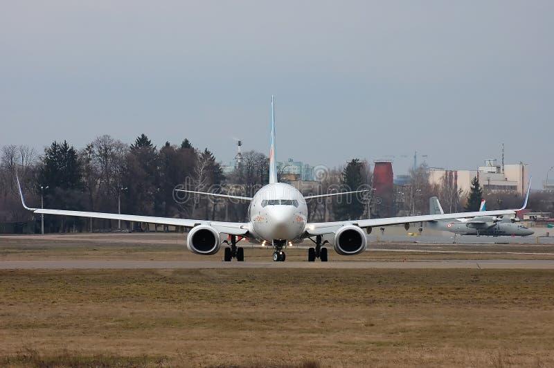 Flydubai Boeing 737 (7000th Boeing 737) royalty free stock image
