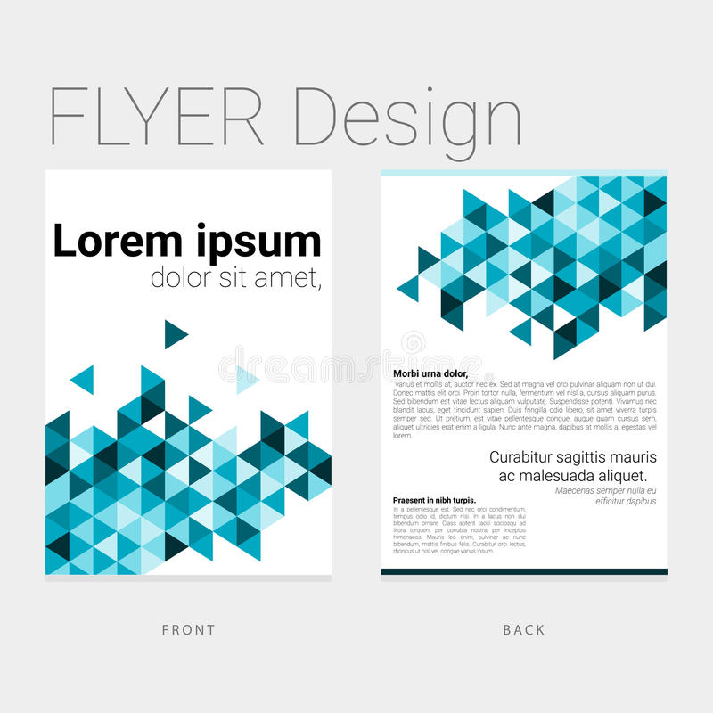 Flyer with abstract polygon background vector illustration