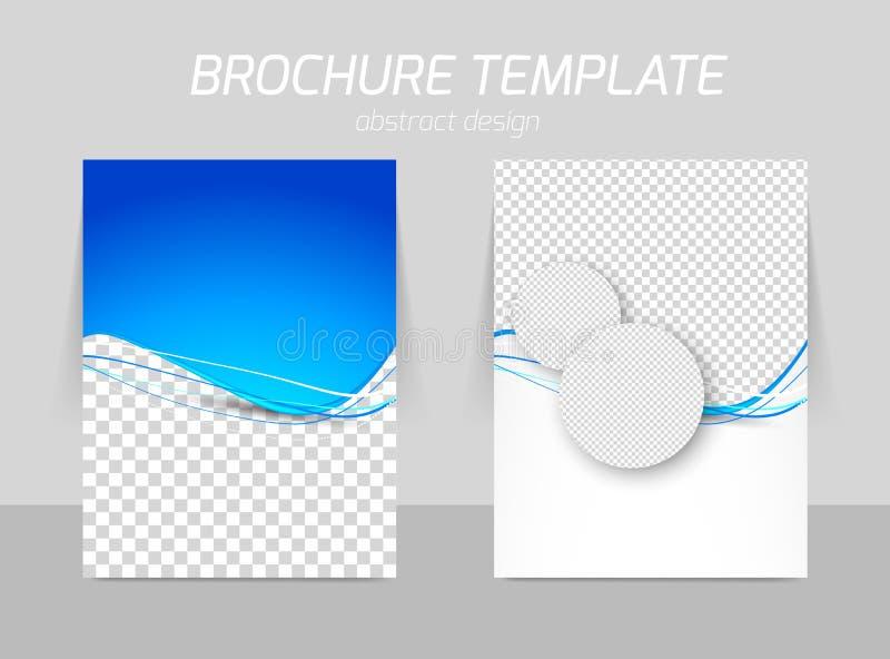 Flyer back and front template design stock illustration