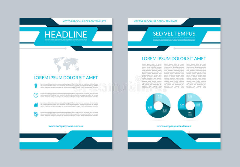 Download Flyer Brochure Annual Report Layout Template. A4 Size Stock Vector - Illustration of layout, empty: 75191571