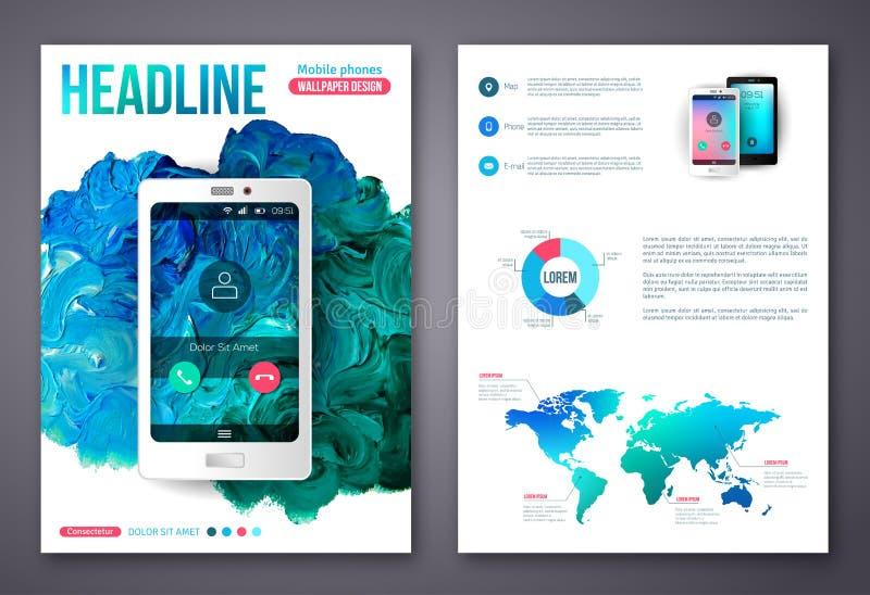 Flyer or brochure business design template stock vector for Online free brochure design templates