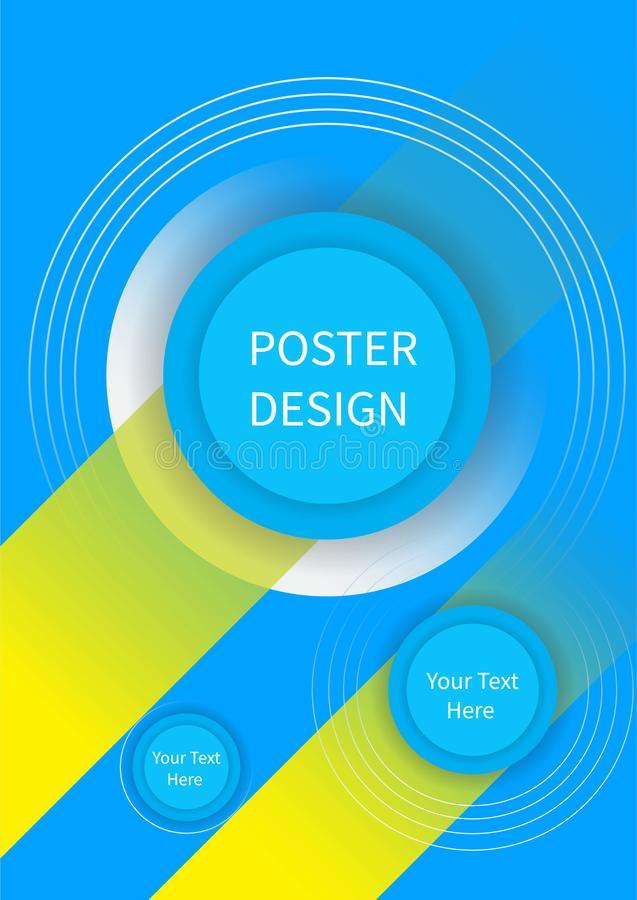 Flyer brochure design, business flyer size A4 template, creative leaflet, trend cover triangles vector illustration