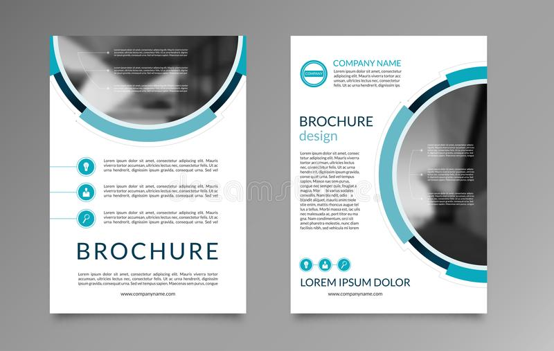 Flyer Brochure Layout Template A4 Size Front And Back Page Stock