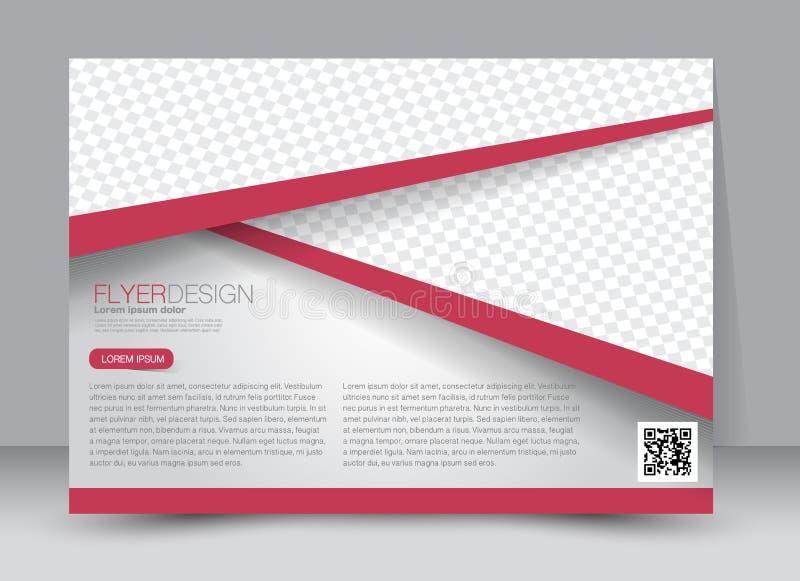 Flyer, brochure, magazine cover template design landscape orientation. For education, presentation, website. Red color. Editable vector illustration stock illustration
